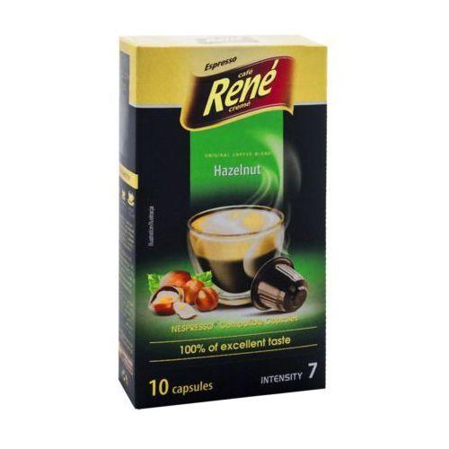 Rene hazelnut (kawa aromatyzowana orzechowa) kapsułki do nespresso – 10 kapsułek marki Nespresso kapsułki