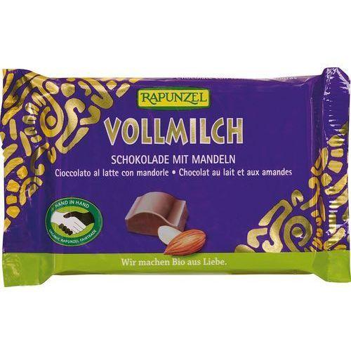 : czekolada mleczna z migdałami bio - 100 g marki Rapunzel