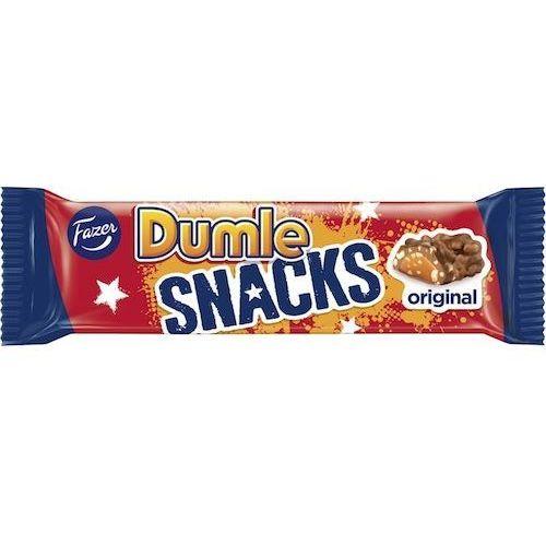 Fazer Dumle snacks - 40g - baton czekoladowy z karmelem i chrupkami ryżowymi (6411401017575)