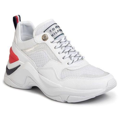 Sneakersy TOMMY HILFIGER - Internal Wedge Sporty Sneaker FW0FW04704 White YBS, w 5 rozmiarach