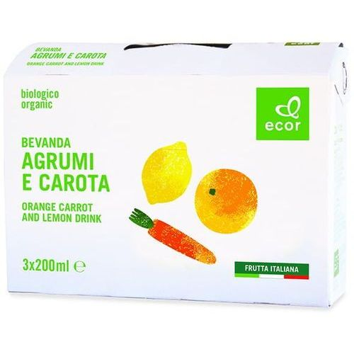Napój cytrusowo-marchwiowy BIO 3 x 200 ml Ecor