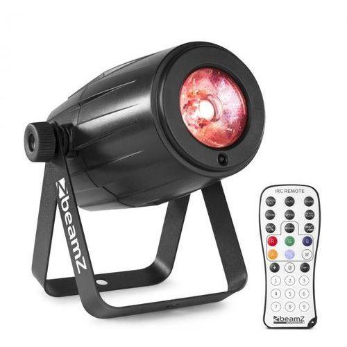 Beamz ps21w, led pin-spot, reflektor, 12 w, 4 v 1 led rgbw, pilot zdalnego sterowania ir, czarny