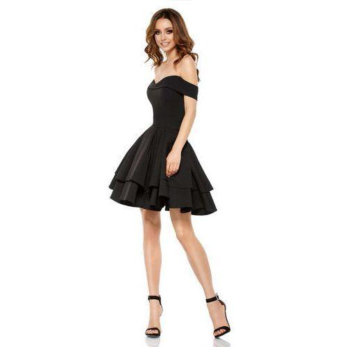 Lemoniade Czarna elegancka imprezowa sukienka z odkrytymi ramiona