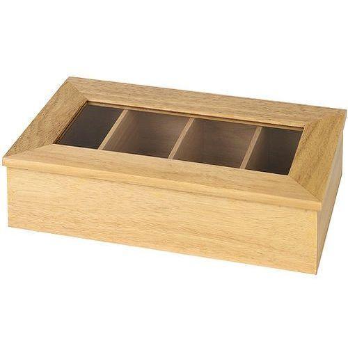 Aps Pudełko ekspozycyjne na herbatę 335x200x90 mm bez napisu, beżowe | , 11576