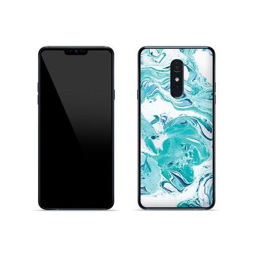 LG G7 Fit - etui na telefon Fantastic Case - niebieski marmur, ETLG821FNTCFC029000