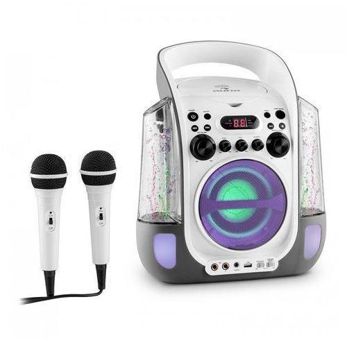 Auna Kara liquida zestaw karaoke cd usb mp3 strumień wodny led 2 x mikrofon mobilny