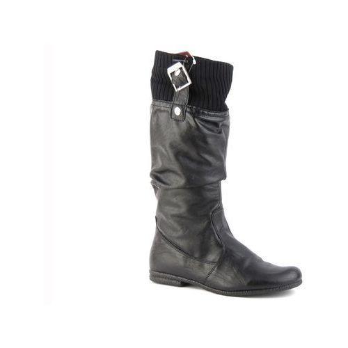 Kozaki damskie Veronii 2227 - czarny, kolor czarny
