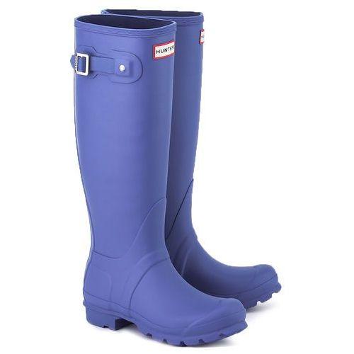 HUNTER Original Tall - Niebieskie Gumowe Kalosze Damskie - WFT1000RMA BRIGHT COBALT, kolor niebieski