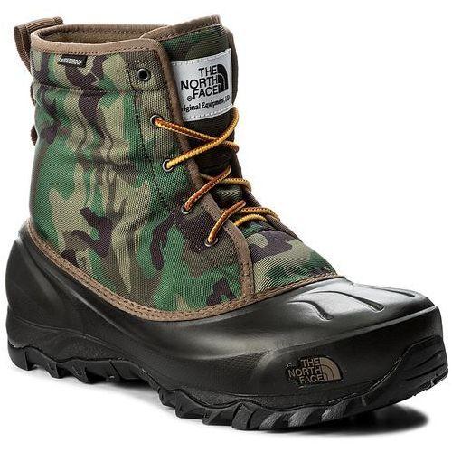 Śniegowce THE NORTH FACE - Tsumoru Boot T93MKSYRL Black Forest Woodland Camo/Tnf Black, kolor zielony