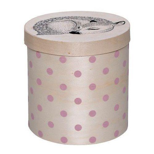 Pudełko z jelonkiem w różowe kropki - Bloomingville