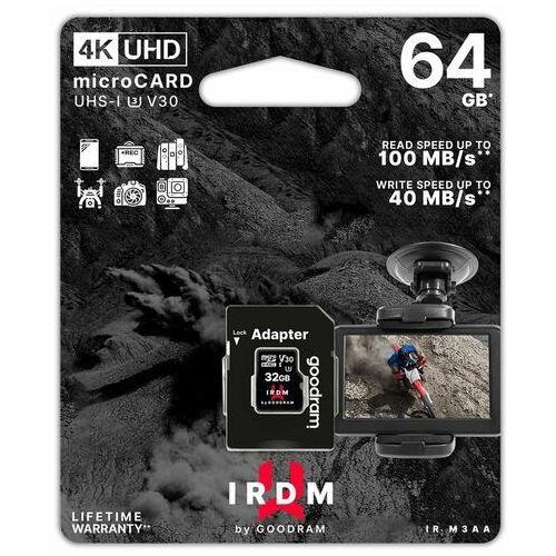 Goodram microsdxc 64gb irdm uhs i u3 + adapter - ir-m3aa-0640r12 (5908267930311)