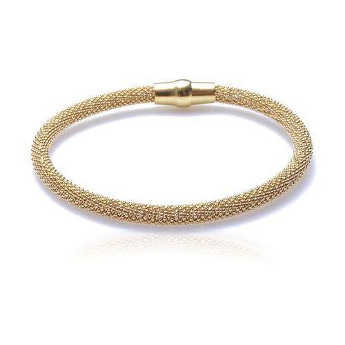 Bransoletka srebrna pozłacana Biżuteria włoska Piękna, kolor szary