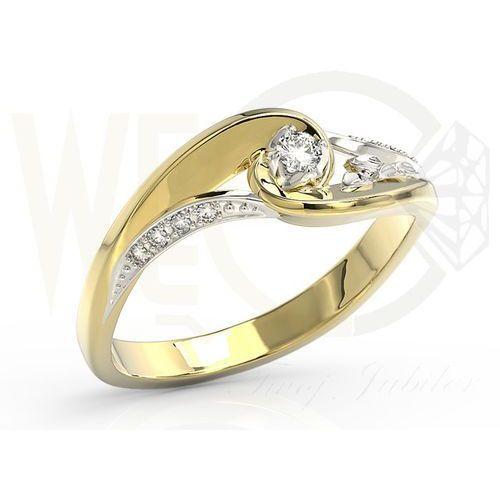 Pierścionek z żółtego i białego złota diamentami BP-56ZB