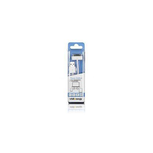 Kabel do przesyłu danych, wtyczka USB 2.0 na iPhone 4, biały (kabel transmisyjny do telefonu)