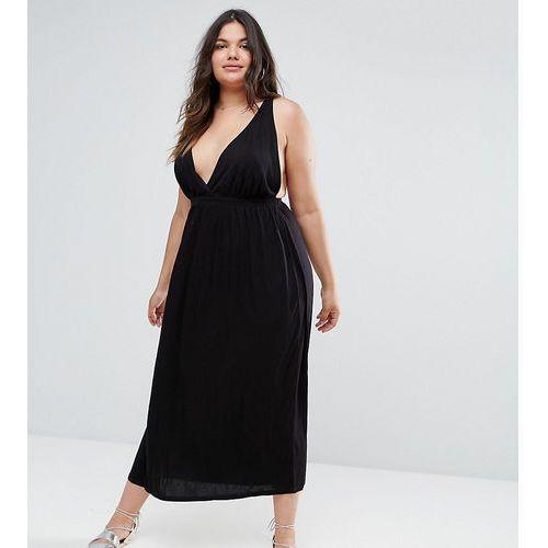 halter maxi dress - black marki Asos curve