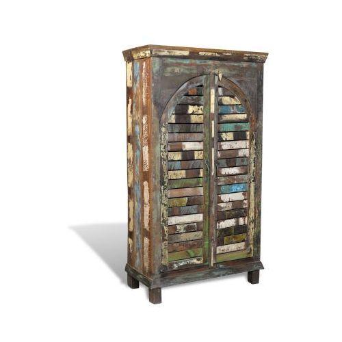 Półka na książki Regał drewno vintage 3 półki i 2 drzwiowa szafka - sprawdź w VidaXL