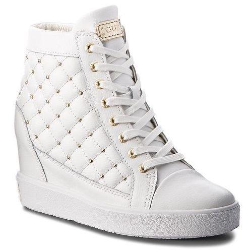 Sneakersy GUESS - FLFRR3 LEA12 WHITE, kolor biały