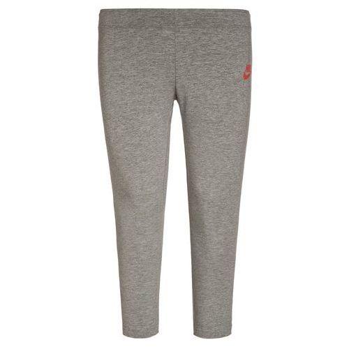 Nike Performance CLUB Legginsy dark grey heather/max orange