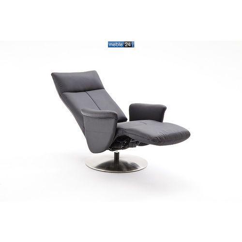 ART RELAX - VIP-B - FOTEL TV- z podnóżkiem-skóra czarny brąz cappuccino, marki niemiecke meble do zakupu w meble24sklep