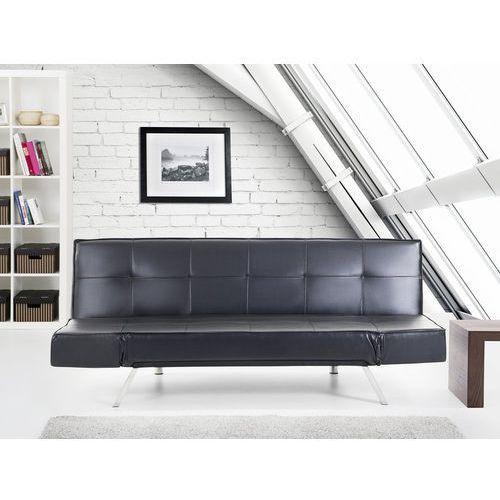 Beliani Rozkładana sofa czarna ruchome podłokietniki bristol (7081459162245)