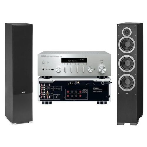 Yamaha Zestaw stereo r-n602 + elac debut f6.2 czarny