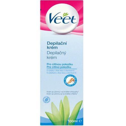 Veet depilatory cream krem do depilacji nóg do skóry wrażliwej aloes i witamina e 100 ml