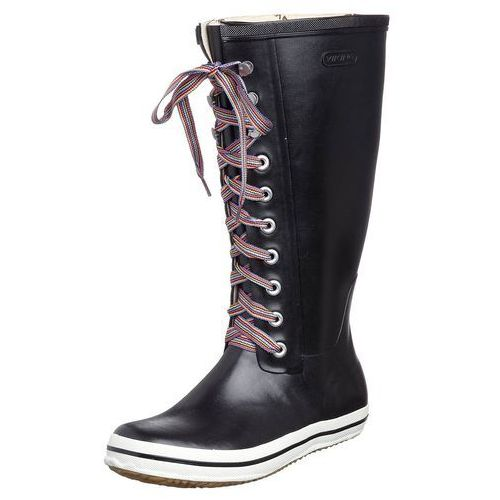 RETRO W STRIPED LACES Kalosze black, Viking z Zalando.pl