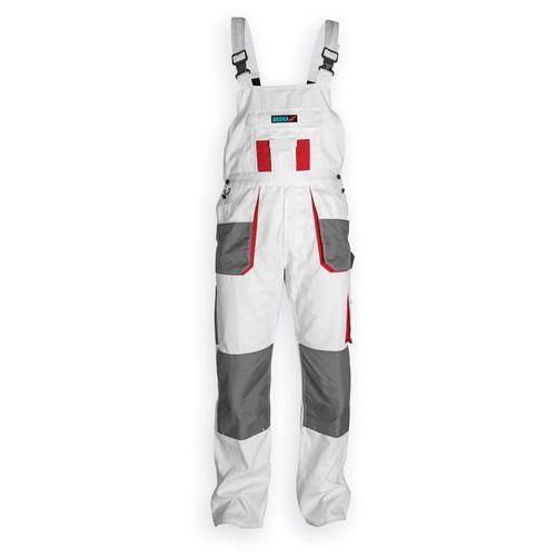 Spodnie robocze DEDRA BH4SO-M ogrodniczki Biały (rozmiar M/50) (5902628211361)