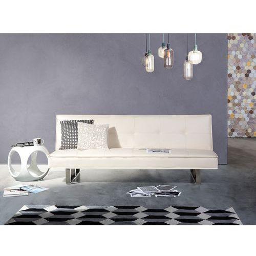 Sofa z funkcją spania biała - kanapa rozkładana - wersalka - DERBY