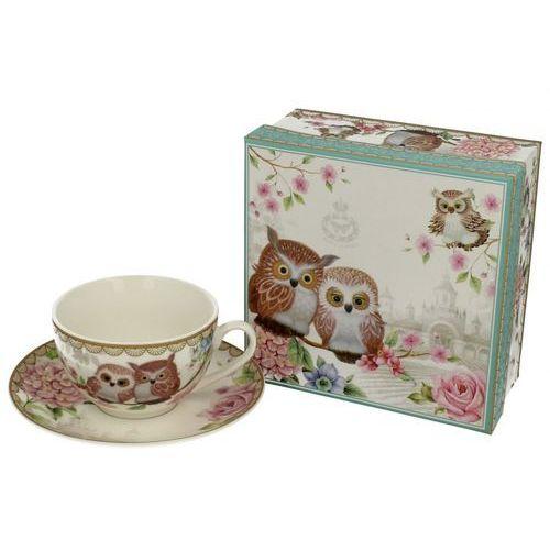 filiżanka do herbaty kawy owls sowy porcelana marki Duo