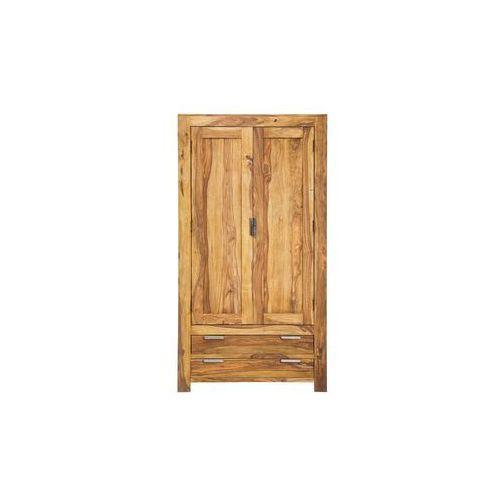 Authentico Drewniana Szafa 2 Drzwiowa z 2 Szufladami Drewno Palisander lakier półmat - 76444, Kare Design
