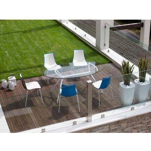 Stół Metropolis I transparentny nogi białe Machina Meble 5301-400-7011-VB-001 - produkt dostępny w sfmeble.pl