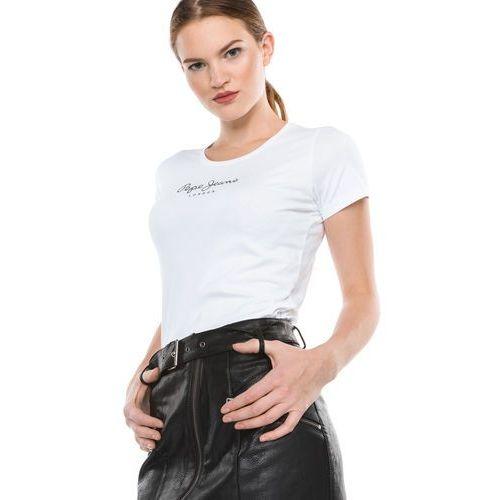 Pepe Jeans New Virginia T-shirt Biały M, kolor biały