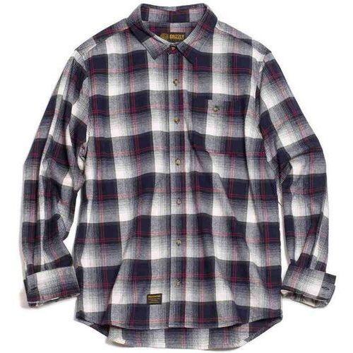 koszula GRIZZLY - Humboldt L/S Woven Black (BLK) rozmiar: L, kolor czarny