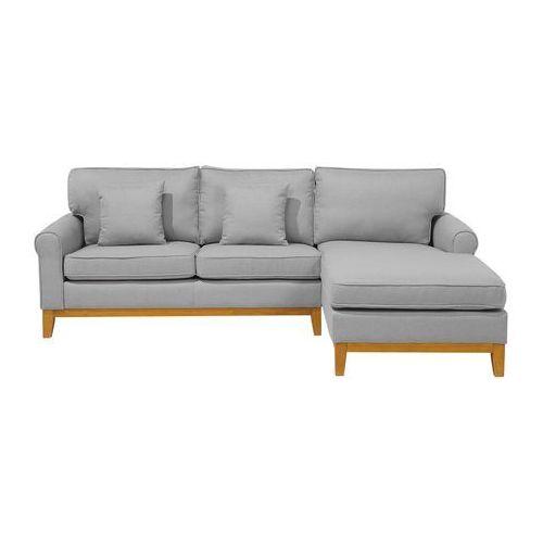 Narożnik jasnoszary - kanapa - sofa - narożna - wypoczynek - nexo marki Beliani