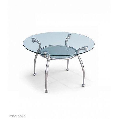 Stolik EDWIN - szkło - sprawdź w EFEKT STYLE Meble i fotele biurowe