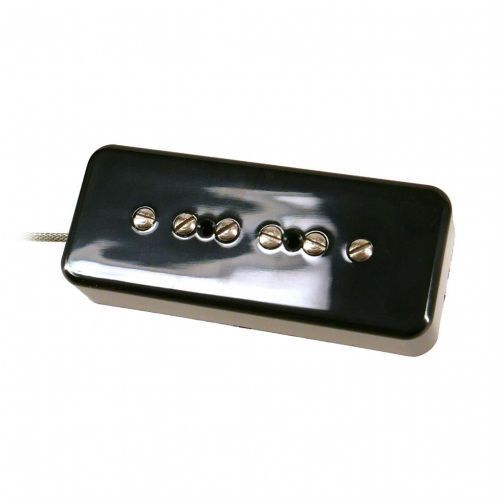 Nordstrand np9.0 p90 style pickup, soapbar shape, black cover - bridge przetwornik do gitary