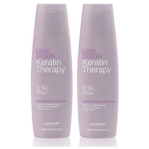 keratin therapy maintence   zestaw podtrzymujący efekt wygładzenia szampon + odżywka 2x250 ml marki Alfaparf