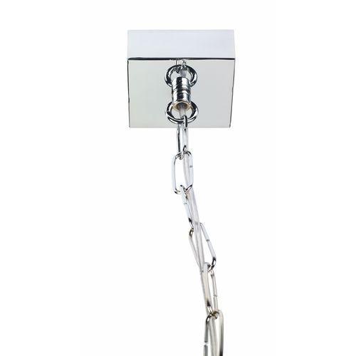 LAMPA wisząca VITA S 10151103 Kaspa designerska OPRAWA ZWIS klatka LOFT chrom przezroczysta (5902047300448)