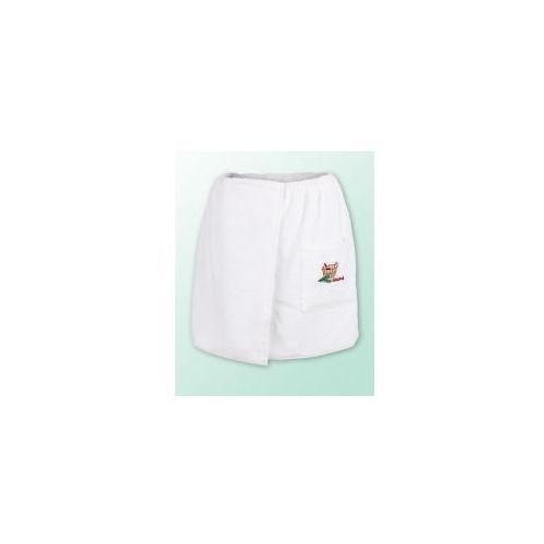Sauna kilt ręcznik biały 100% bawełna męski 50*140 podwójna przędza 500gram logo, Produkcja własna