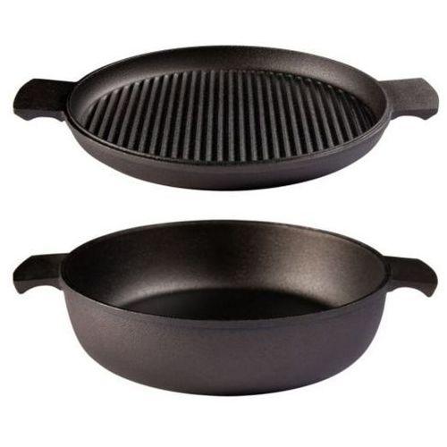 Zestaw patelnia głęboka i patelnia grillowa Skeppshult Master, produkt marki Produkty marki Skeppshult