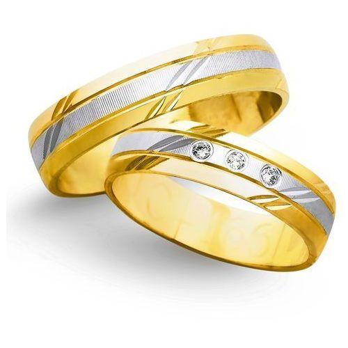 Świat złota Obrączki ślubne z żółtego i białego złota 5mm - o2k/018