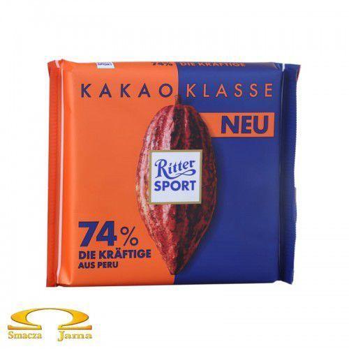 Czekolada Ritter Sport 74% kakao z Peru 100g