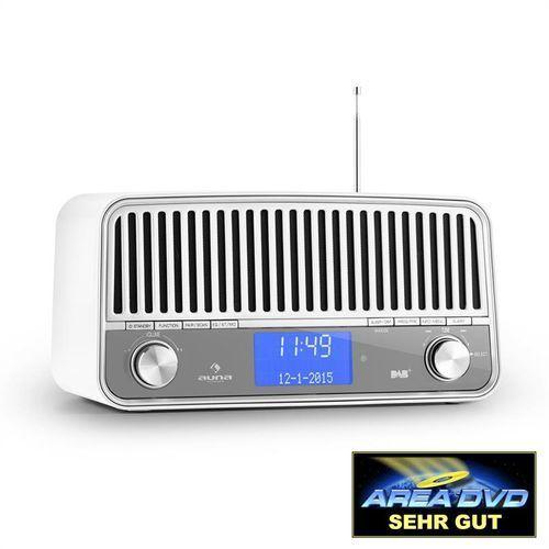 Auna Nizza DAB+ radio w stylu retro Bluetooth UKF AUX 2.1 Subwoofer białe