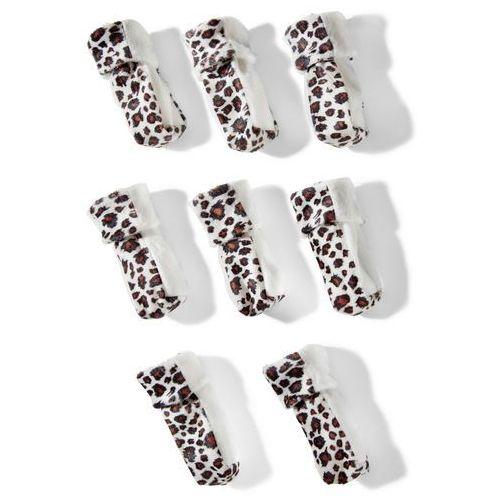 Bonprix Osłonki skarpetki na nogi od krzeseł (8 szt.)  biało-brązowy leo