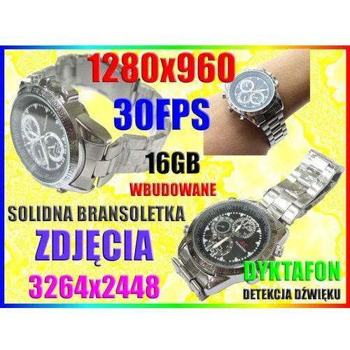 ZEGAREK SZPIEGOWSKI UKRYTA KAMERA DYKTAFON +16GB - oferta (15e0e900316274f2)