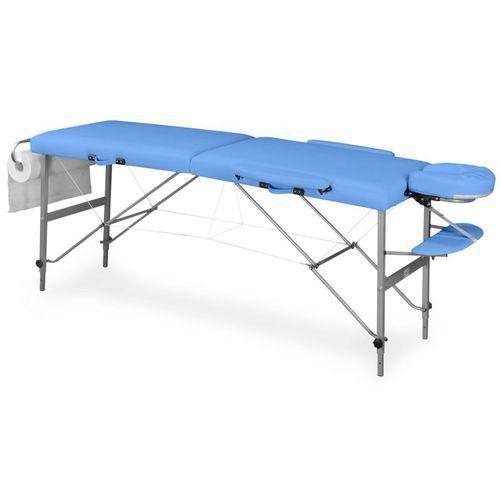 Składane łóżko do masażu - kozetka, kolor: czarny, model: doplo aluminium marki Juventas