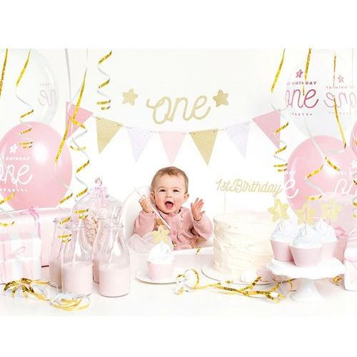 Party deco Party box - imprezowe pudełko - zestaw dekoracji na roczek 1st birthday