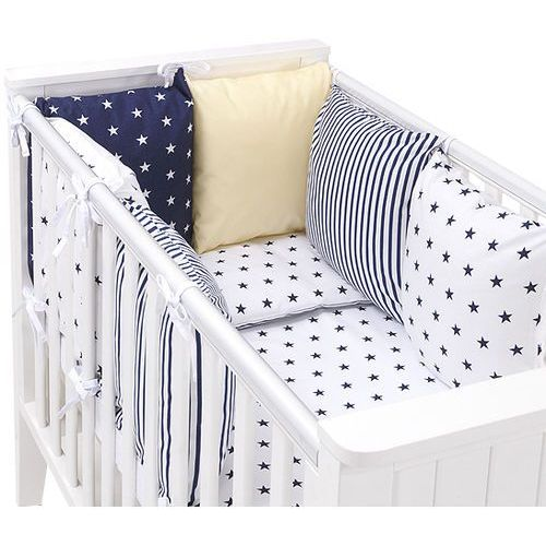 14-el pościel do łóżeczka z ochraniaczem modułowym - zestaw 26 marki Mamo-tato
