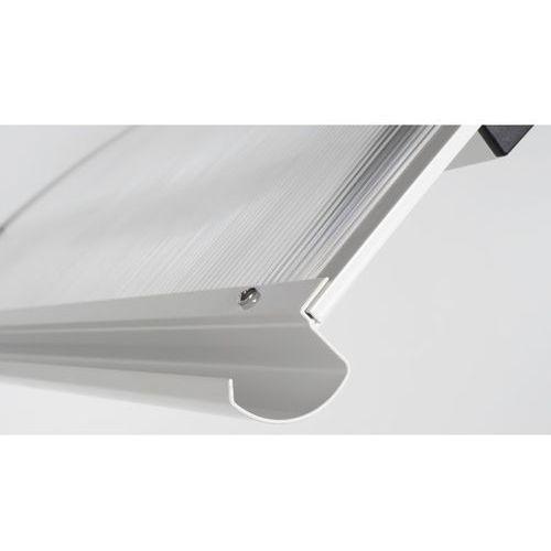 ARCTOM Daszek Meles, Rozmiar: 120x84x35 cm, Kolor: Biały, Materiał: Płyta bezbarwna